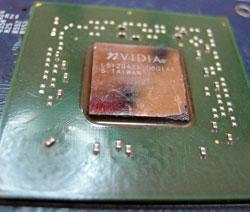 перегретый чип со сколом