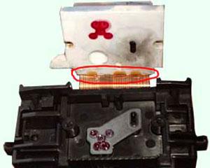 печатающая головка Canon в разборе