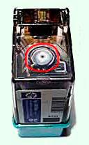 отверстие воздушного лабиринта картриджей hp 51626, 51629